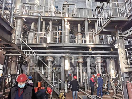 金陵环保科技五套蒸发浓缩装置安装实况